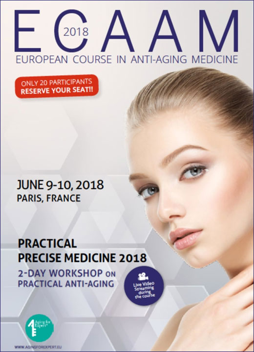 ECAAM 2018 European Course in Anti-Aging Medicine