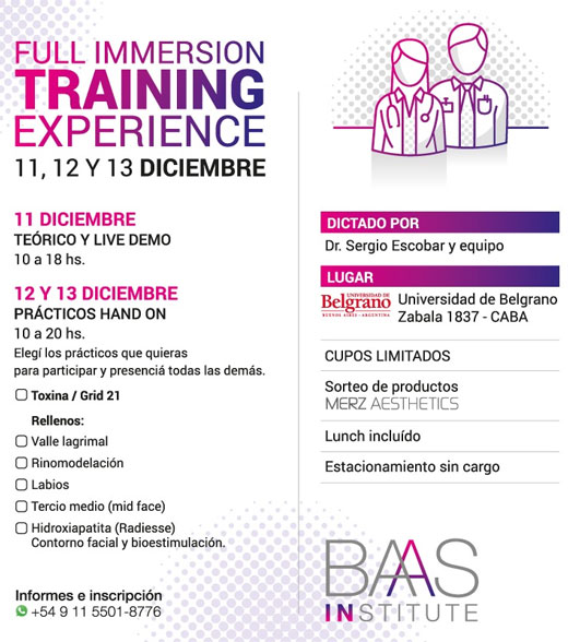 Full Inmersion Training Experience: Toxina & Rellenos