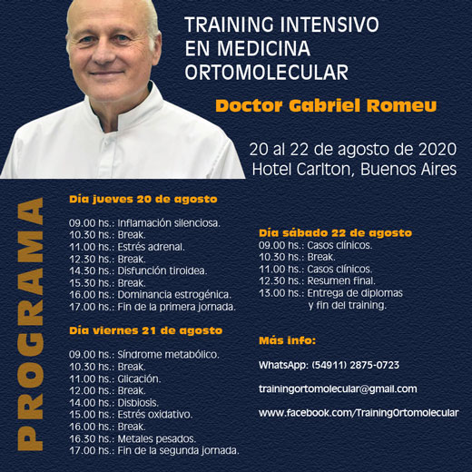 Training intensivo en medicina ortomolecular