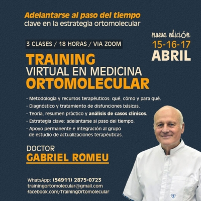 Medicina ortomolecular: training virtual a cargo del doctor Gabriel Romeu